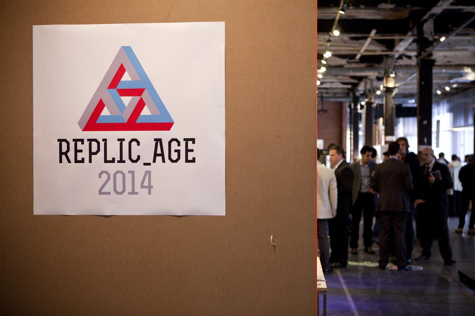 Entrada a Replic_age en Central del Diseño. Matadero Madrid