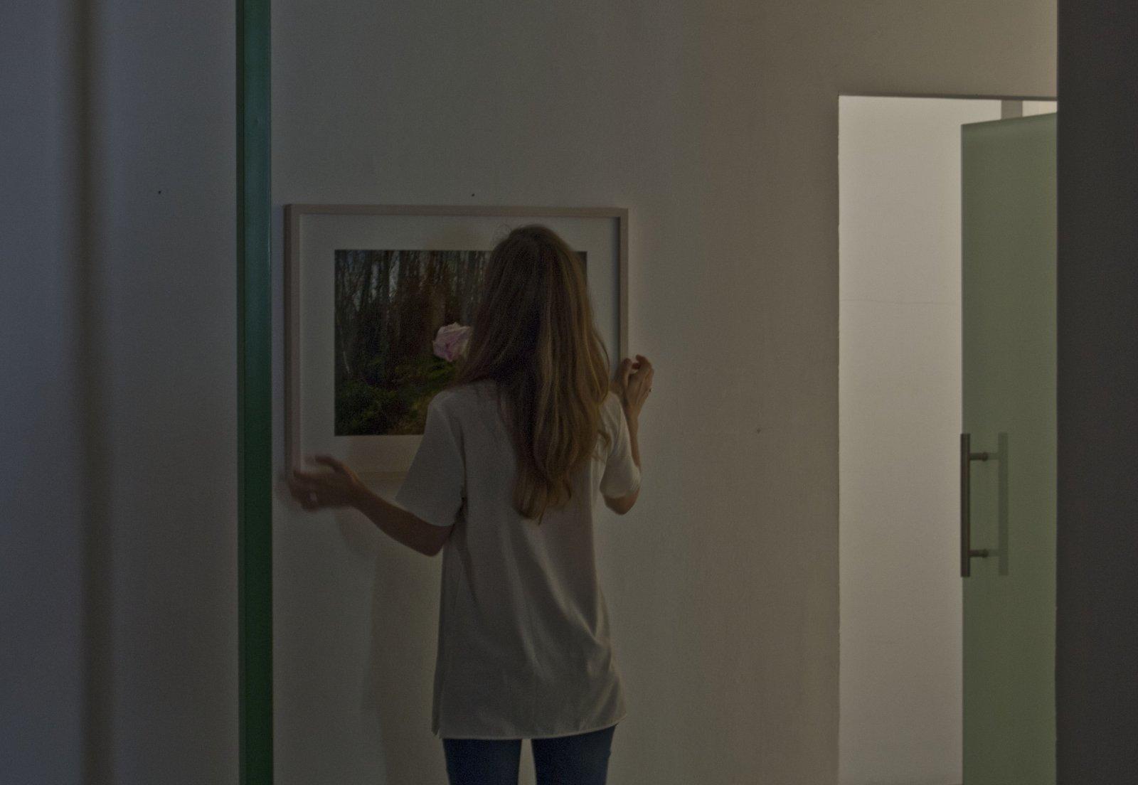 Julia Llerena en el montaje de 'Espacio gélido'. En Espacio Mínimo