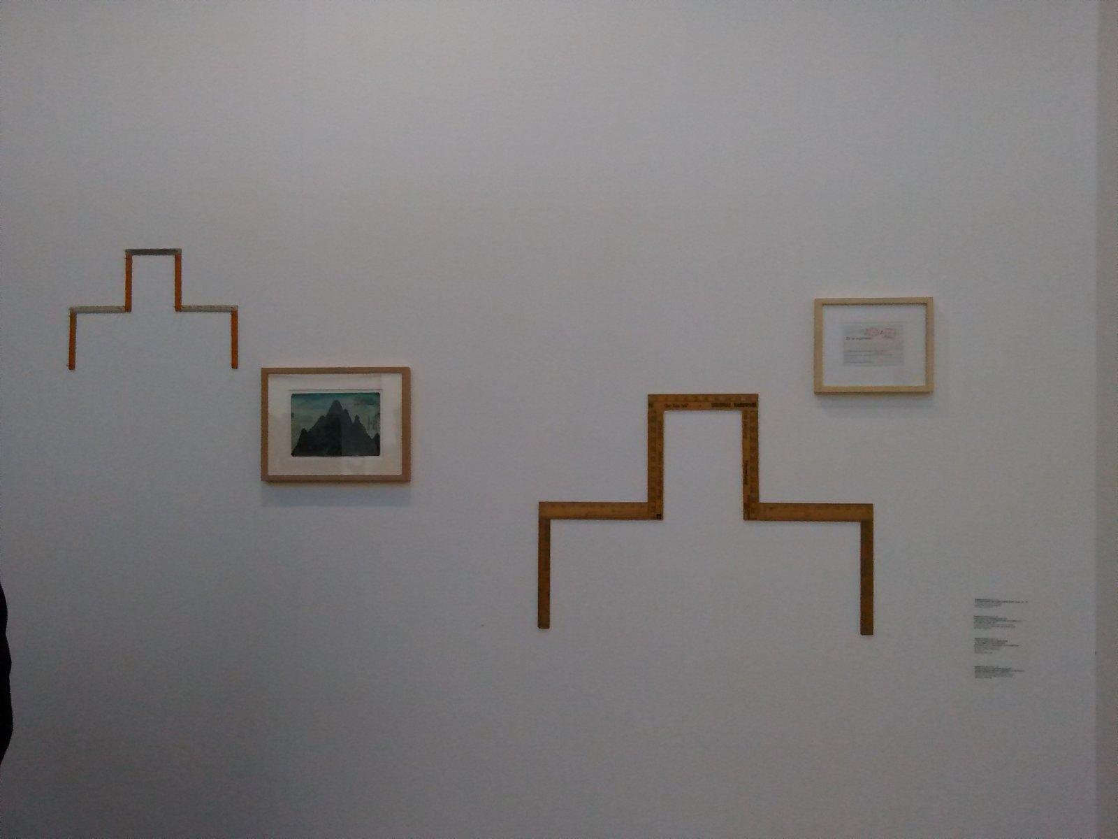 Obra de Hamish Fulton. Galería Espaivisor.