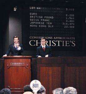 Subasta en Christie's