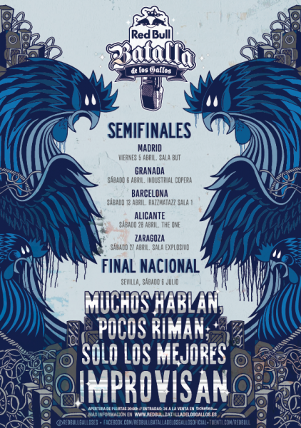 Cartel Red Bull Batalla de Gallos 2013
