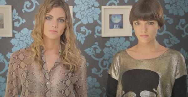 Amaia Salamanca y Sabrina Praga en un fotograma del capítulo siete.
