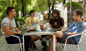 De izquierda a derecha: M.A. Boroña, Dorian Sanz, Carlos Bueno y Pablo Ibáñez