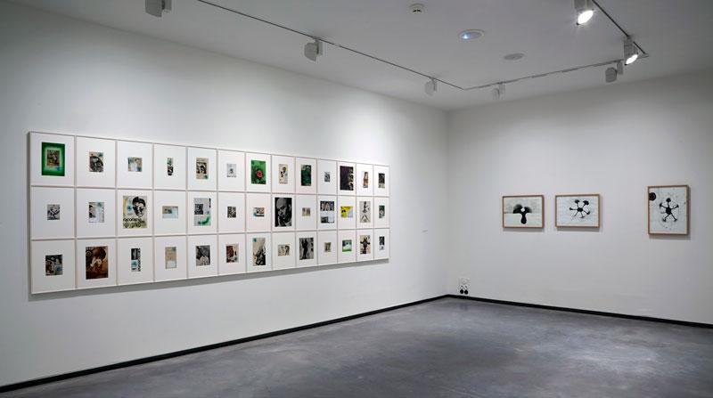 Sobre papel. Fundación Helha de Alvear. Vista de la exposición. Obras de Jorge Galindo y Ernesto Neto. Foto. Joaquín Cortés