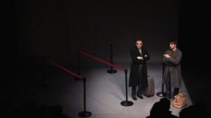 David Luque y Quique Fernández en un momento de la representación.