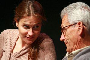 María Pastor y Juan Pastor en un momento de la obra