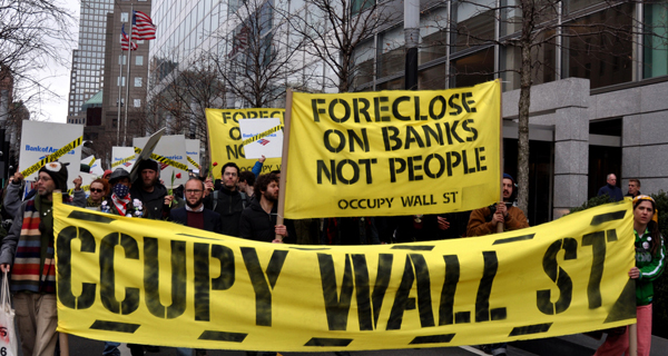 Manifestación del movimiento 'Occupy Wall Street' (Ocupa Wall Street).
