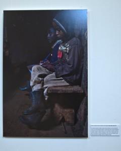 Una de las fotografías de la parte de Etiopía en la exposición ECOS