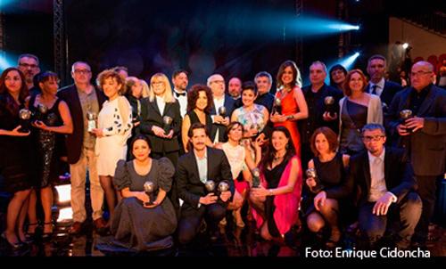 Foto de familia de los galardonados en la XVII edición de los Premios Max
