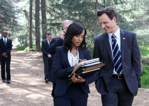 Olvia Pope (Kerry Wahington) y Fitz (Tony Goldwyn) en Scandal.