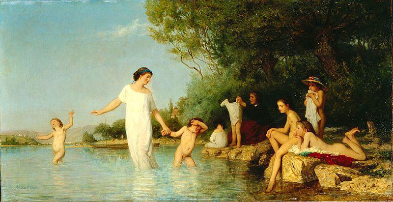 Albert_Anker-Die_Badenden_(1865)