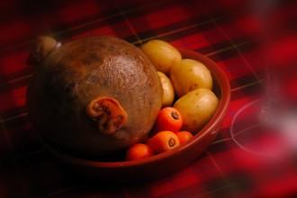 Haggis, plato tradicional de Escocia.