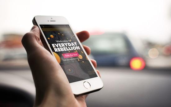 La App para ver el mapa de arte callejero activista se llama igual que el filme.