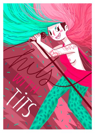Ilustración de Srta.M para Hits With Tits