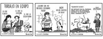 Algunas de las viñetas de Blowearts protagonizadas por Lico