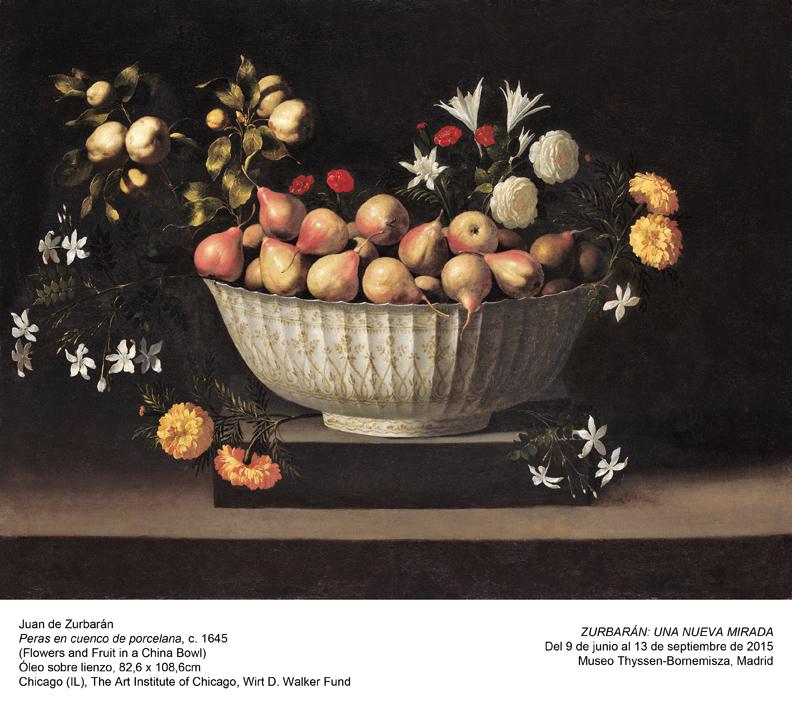Juan de Zurbarán, 'Peras en cuenco de porcelana'