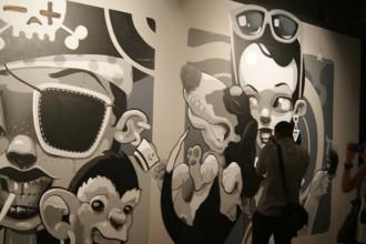 Uno de los murales del Festival Asalto, expuesto en el Centro de Historias de Zaragoza.