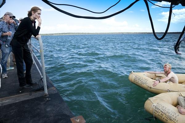 Rodaje de 'By the sea'.