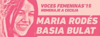 Cartel de Voces femeninas. Homenaje a Cecilia
