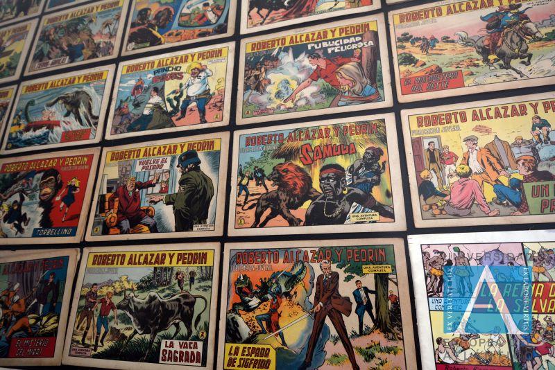 Exposición de cómics.