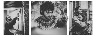 Distintos momentos de la grabación de 'Far'. Fotos de Carlos Bueno.