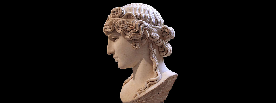 Busto romano de Antínoo.