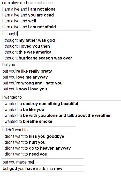 Google Poetics: poesía de algoritmo