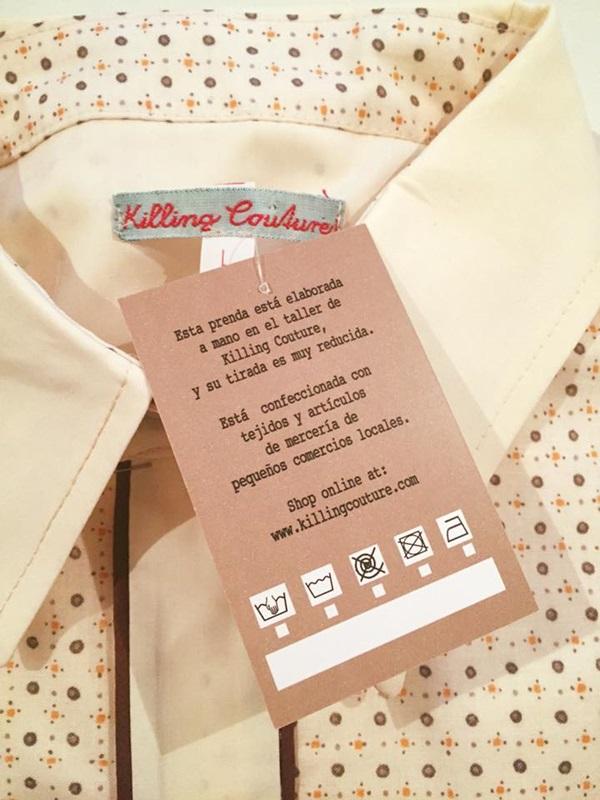 Una etiqueta de killing Couture.