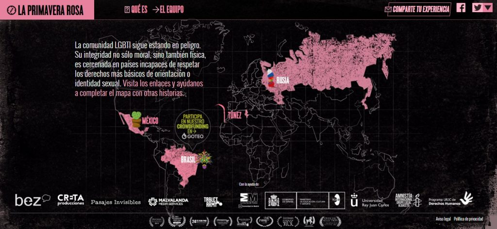 El mapa de la Primavera Rosa.El mapa de la Primavera Rosa.