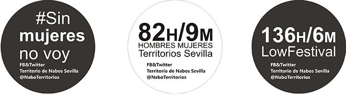 Pegatinas de protesta diseñadas por Territorio de Nabos.