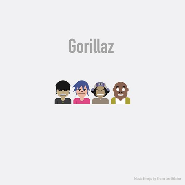 Emoji de Gorillaz.
