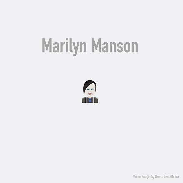 Emoji de Marilyn Manson.