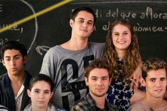 Algunos de los alumnos a los que Merlí da clase de filosofía en la ficción.