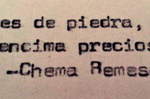 Citas en verso: Chema Remesal