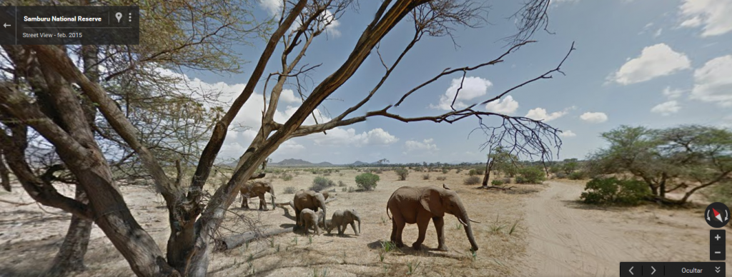Parque Nacional de Samburu, desde Street View.