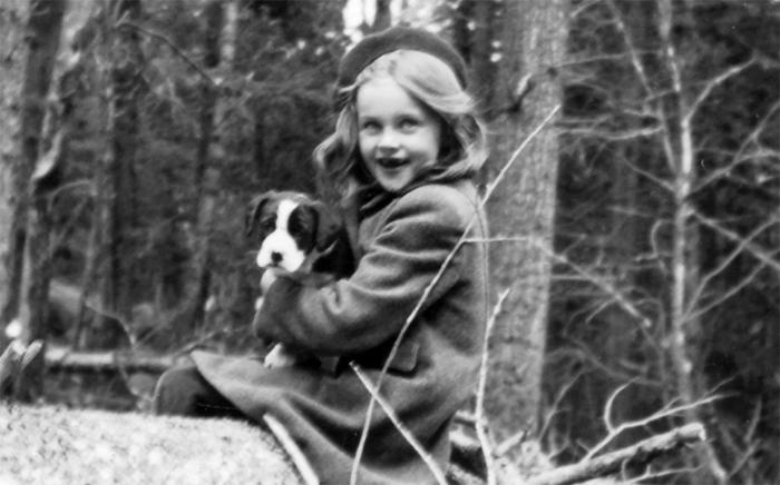 Lucia Berlin durante su infancia.