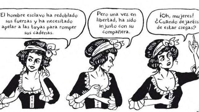 Fragmento de la edición española de Olympe de Gouges