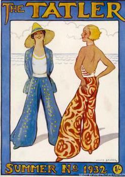 Pijamas de playa en la revista 'The Tatler'.
