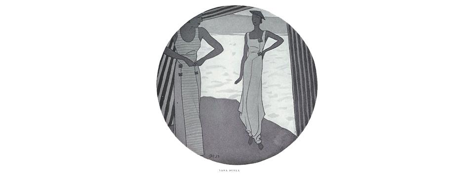 Diseño del pijama de playa de la diseñadora Vera Borea en 1933.