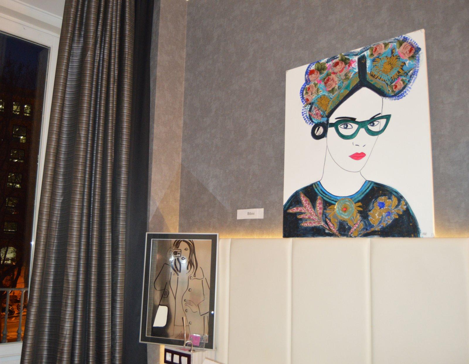 Obra de Bibivi en la habitación de Eka Moor