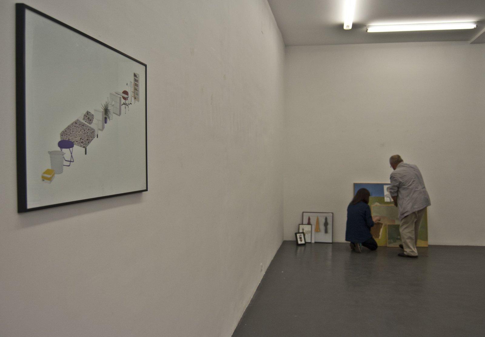 Proceso de montaje de 'El orden de mi habitación', de Elisa González, en Galería Fúcares