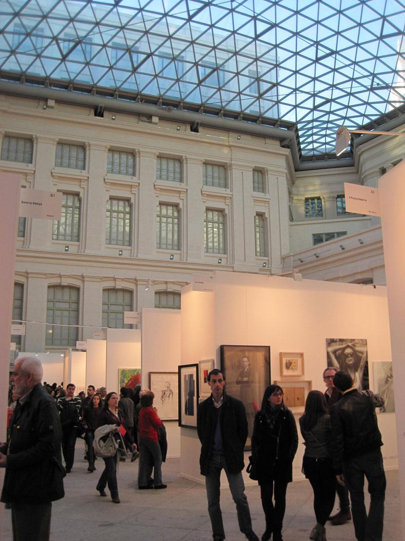 Entrada a Art Madrid 2014 en la Galería de Cristal del Palacio Cibeles