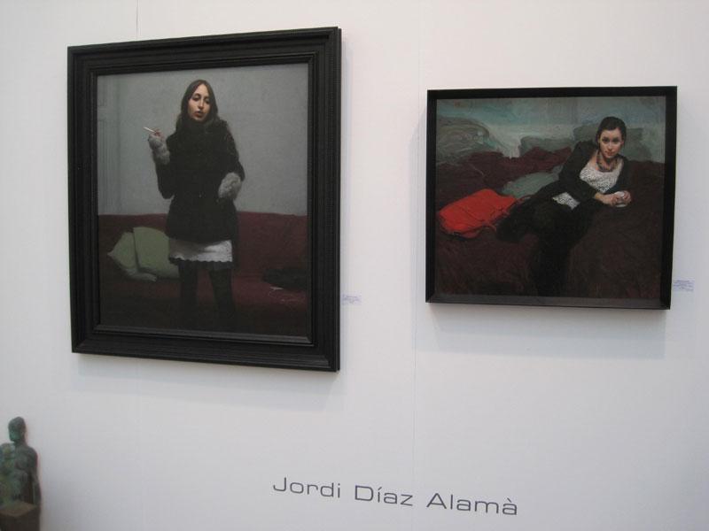 Obras de Jordi Díaz Alamà. Galería El Quatre