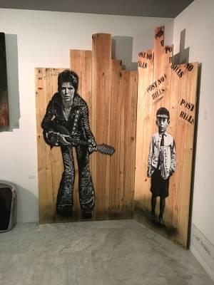 Obra de Jef Aérosol en Galerie Martine Ehmer