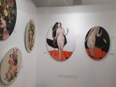 Fersantis y Teresa Cucala en la Galería Juca Claret. Justmad.