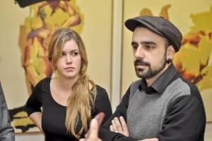 11. Integrantes de La Goma. Patricia Barrera y Héctor Fernández.
