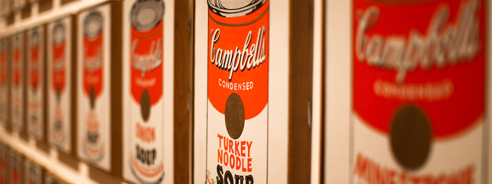 Campbell's soup. Andy Warhol
