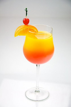 Tequila Sunrise garnished