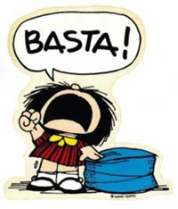 Mafalda. Basta