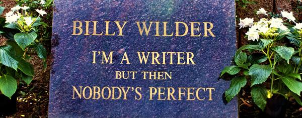 Epitafio de Billy Wilder en el Westwood Memorial Cemetery.